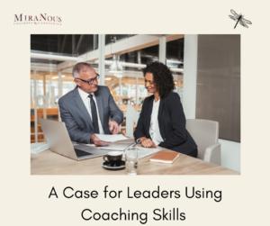 female leaders using coaching skills with make employee